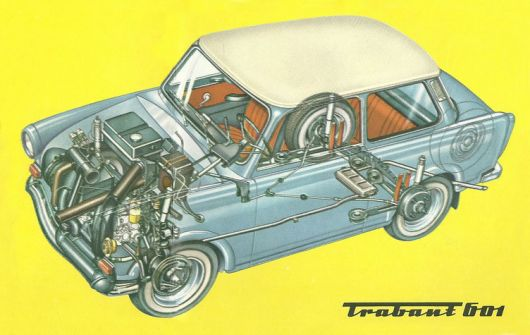 trabant 601 cut away