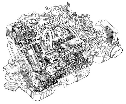 internal combustion engine diagram of a show how  internal