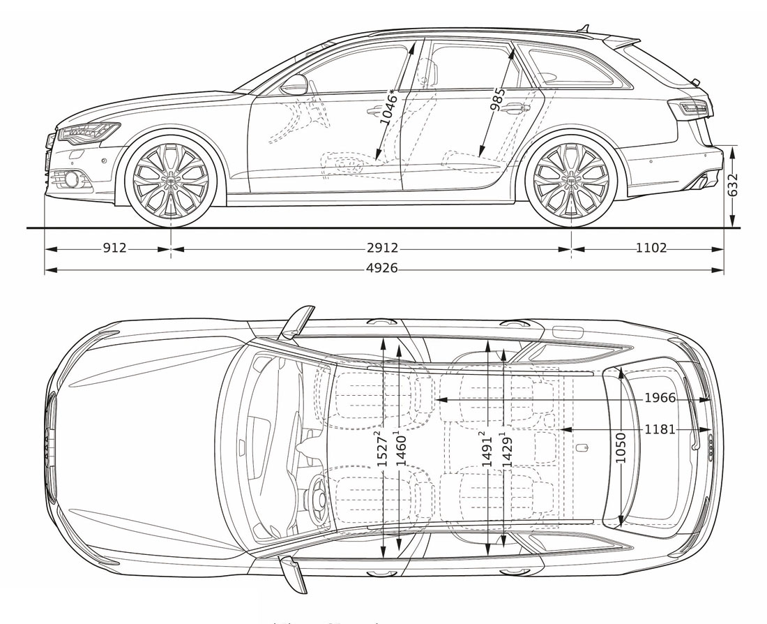 Dimensioni audi a4 station wagon 2013 4
