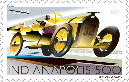 usps indy 500 stamp