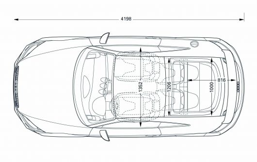 car interior sketch top view  car interior line drawing