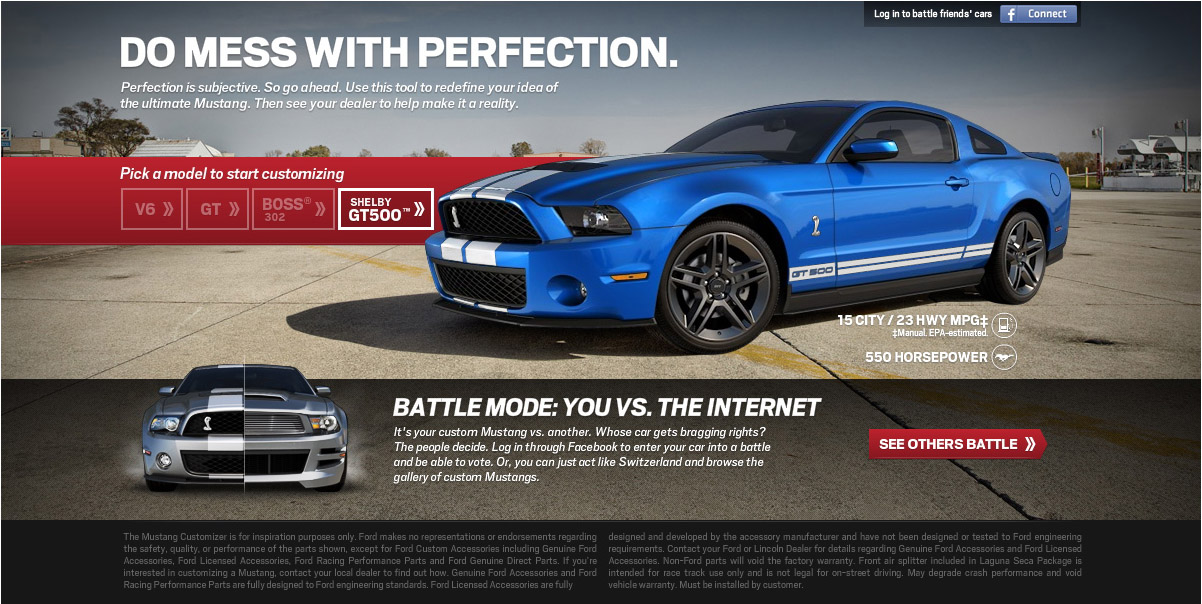 Ford Mustang Customizer Website Cartype