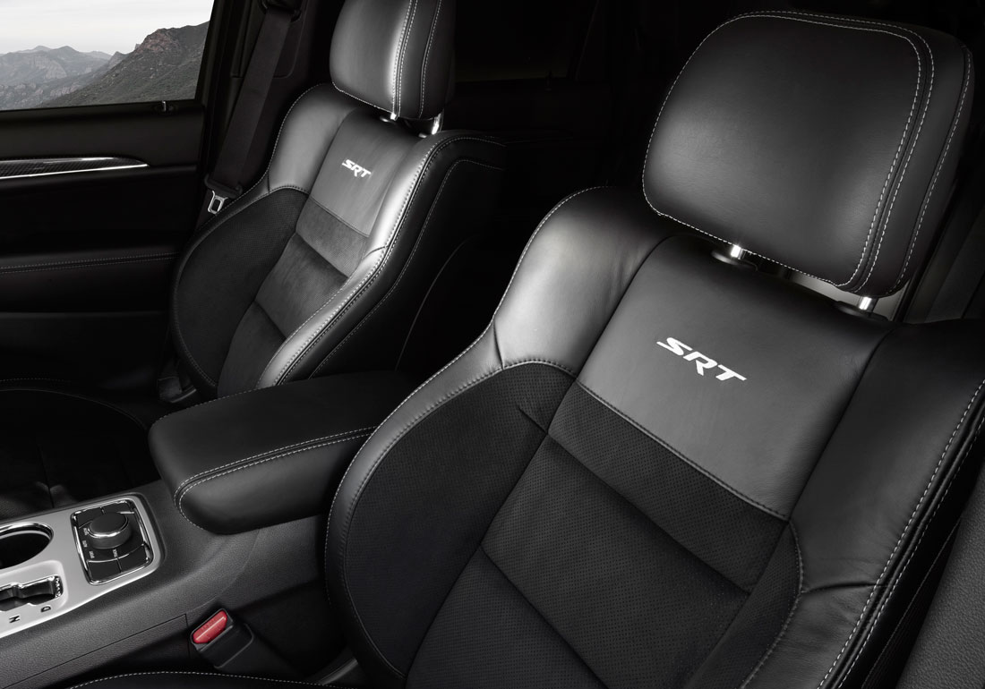 2012 Jeep Grand Cherokee SRT8 interior.