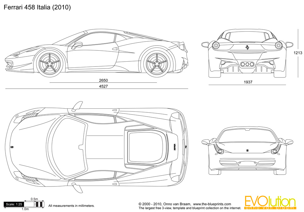 Automotive blueprints on aston martin