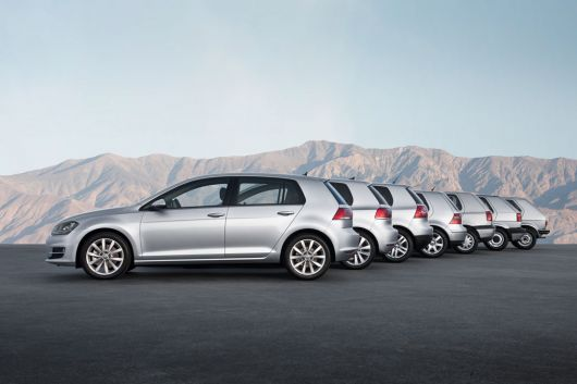 vw golf generations 1 7
