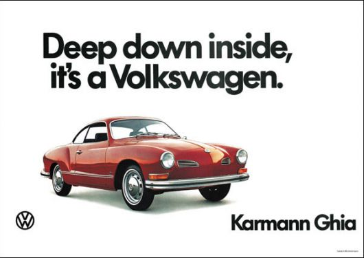 vw karmann ghia poster