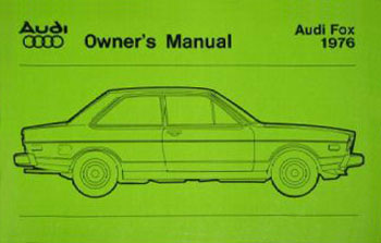 audi fox owners manual 76