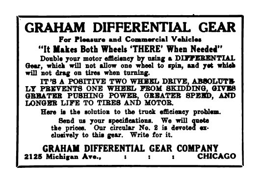 graham differential ad 1910