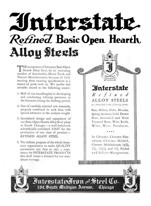interstate ironsteel ad 21