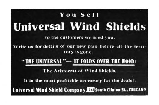 universal windshield ad 1911