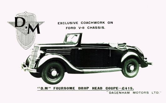 dagenham 1935 ford v8 dm foursome drophead coupe
