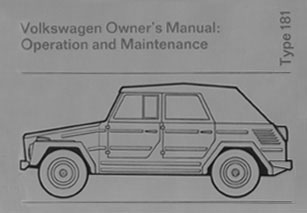 type 181 thing owners manual 73