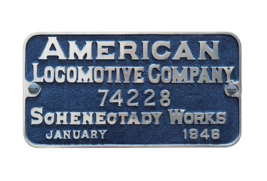 american locomotive plaque 46