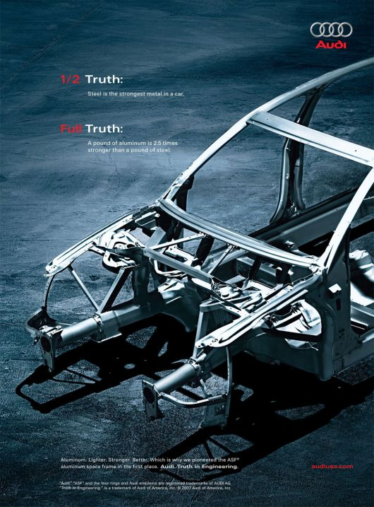 audi half truth ad