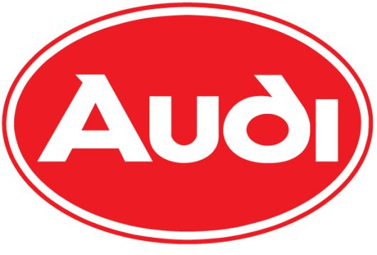 audi oval logo red