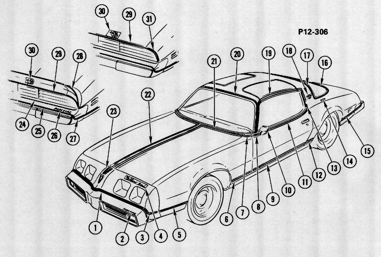 Pontiac Firebird Yellow Bird 1980 Cartype 1927 Buick Wiring Diagram Yellowbird Decals2