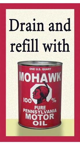 mohawk oil sign