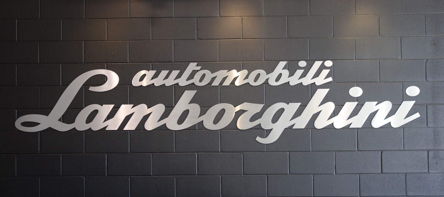 Lambo Dealer Sign on lamborghini miura roadster