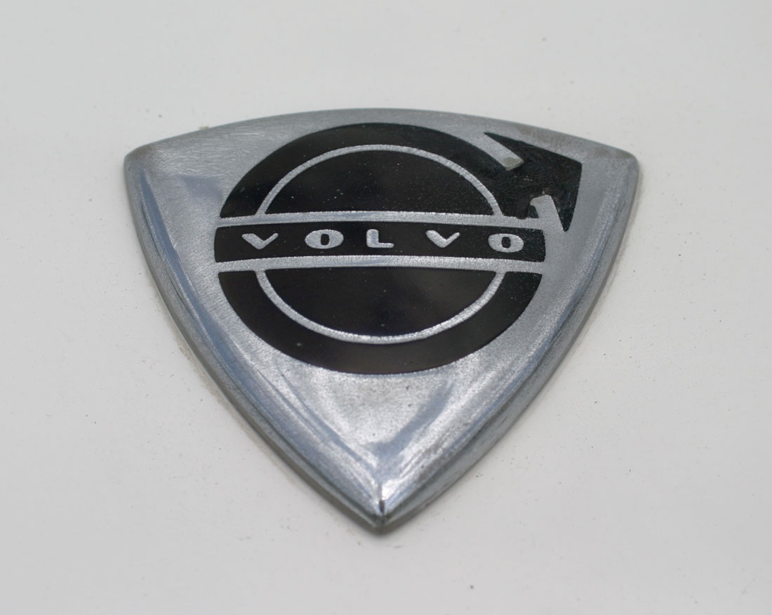 Volvo shield emblem from a