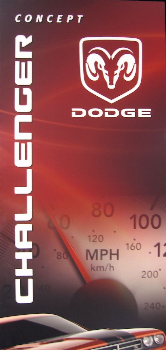 dodge challenger concept sign 07as