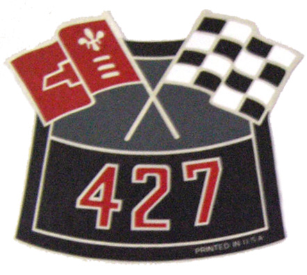 427 air cleaner decal