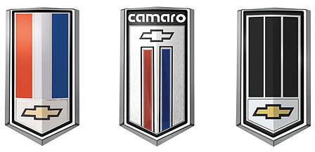 chevy camaro fuel door emblems