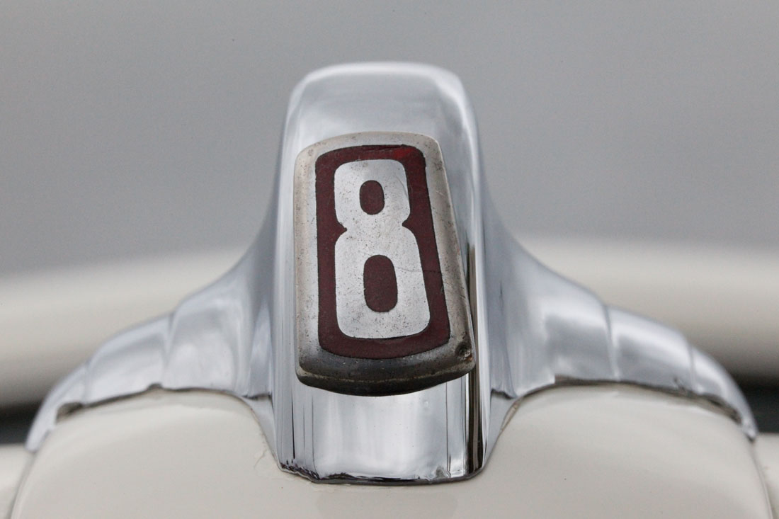 8 emblem from a 1946 Ford