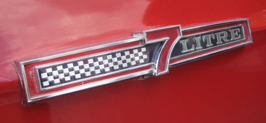 ford galaxie 7 litre side emblem 2 66