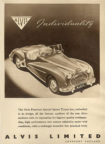 alvis fourteen special sports tourer roadster ad 50