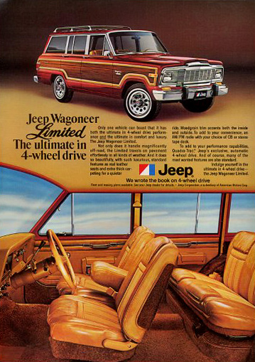 Amc Jeep Wagoneer Limited Ad on 1971 jeep wagoneer