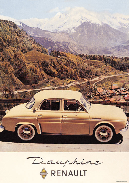 renault dauphine poster