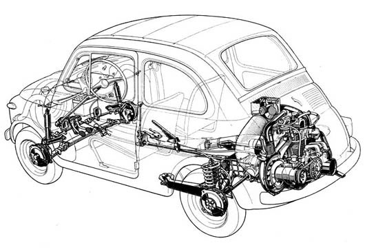 Fiat on Engine Exploded View Drawing