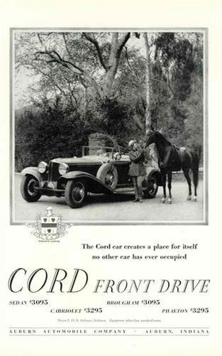 cord front wheel drive ad 29