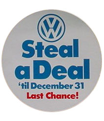 vw steal a deal promo 80