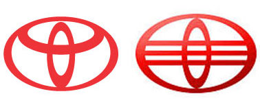 automobile logo ripoffs from china