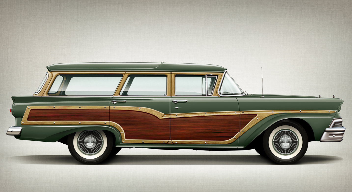 Ford country squire wagon 1958