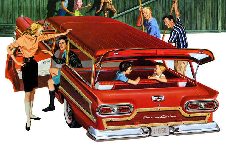 Ford Country Squire Wagon 1958 Cartype