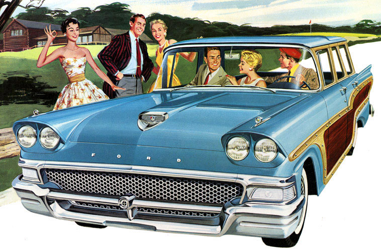 What Is Ford Mykey >> Ford Country Squire Wagon : 1958 | Cartype