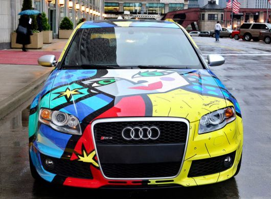 audi rs4 art car by romero britto f