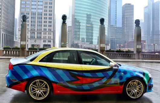 audi rs4 art car by romero britto s