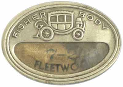 fisher body fleetwood plaque