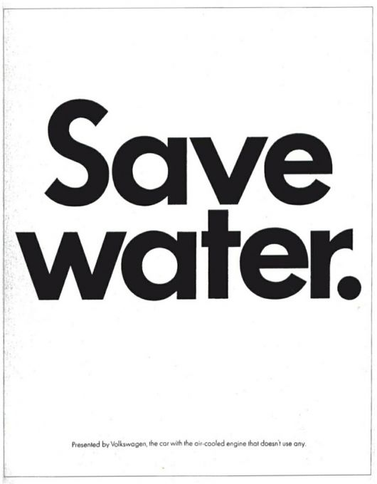 vw save water ad