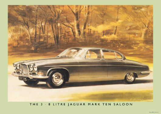 jaguar mark ten saloon poster