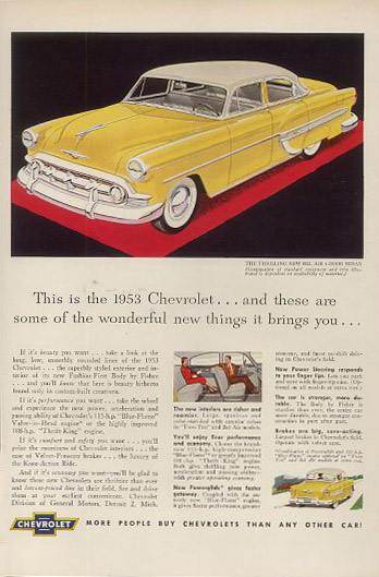 chevrolet bel air 4 door sedan 53