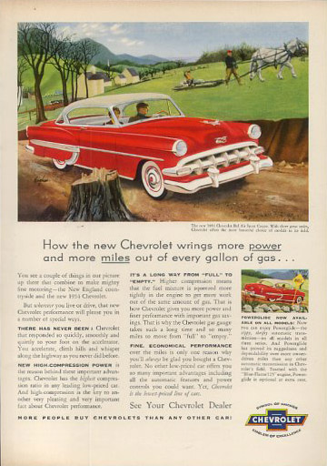 chevrolet bel air sport coupe 54