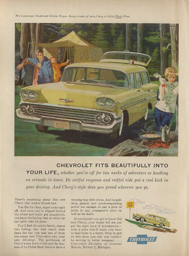chevrolet brookwood station wagon 58