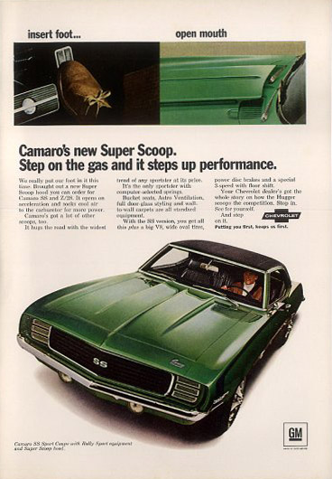 chevrolet camaro ss rally sport coupe 69