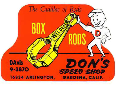 box rods dons speed shop 50s