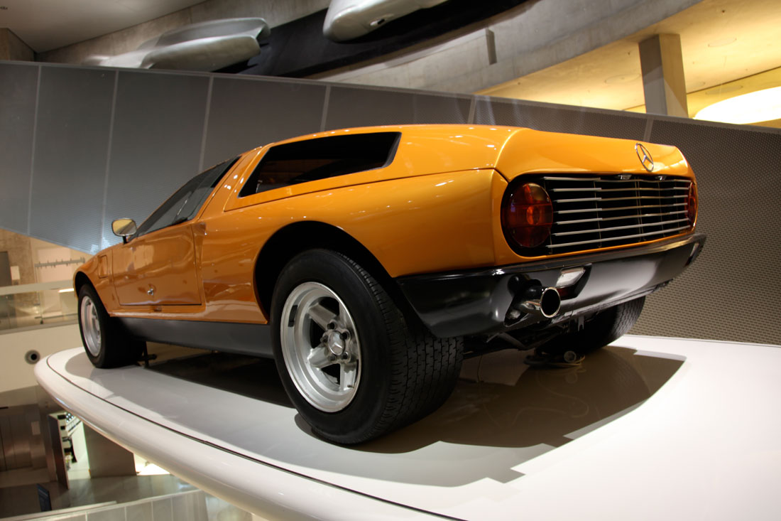 1969 mercedes benz c 111 at the mercedes benz museum in stuttgart