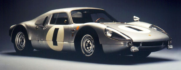 1964 Porsche 904 Carrera GTS Coupe. It was the first Porsche with a plastic